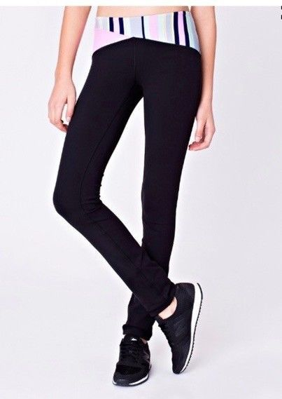 0b94b9c57a Pants 51568: Lululemon Ivivva Will Power Pant Blk Ftss Vntp Nwt Girls  Active Leggings 8 10 -> BUY IT NOW ONLY: $39.95 on eBay!