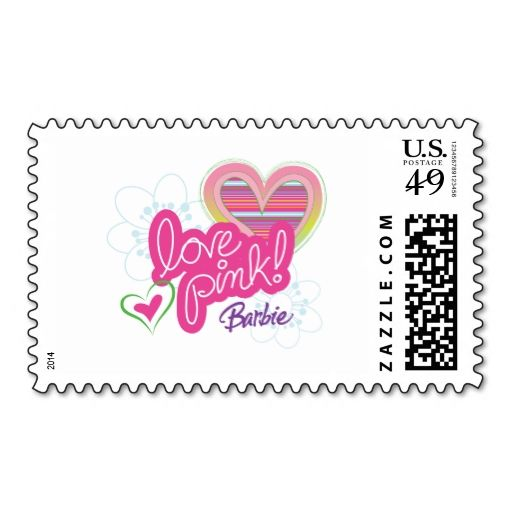 Barbie postage stamps it is really great to make each letter a zazzle custom stamps personalized postage zazzle business cardspostage reheart Image collections