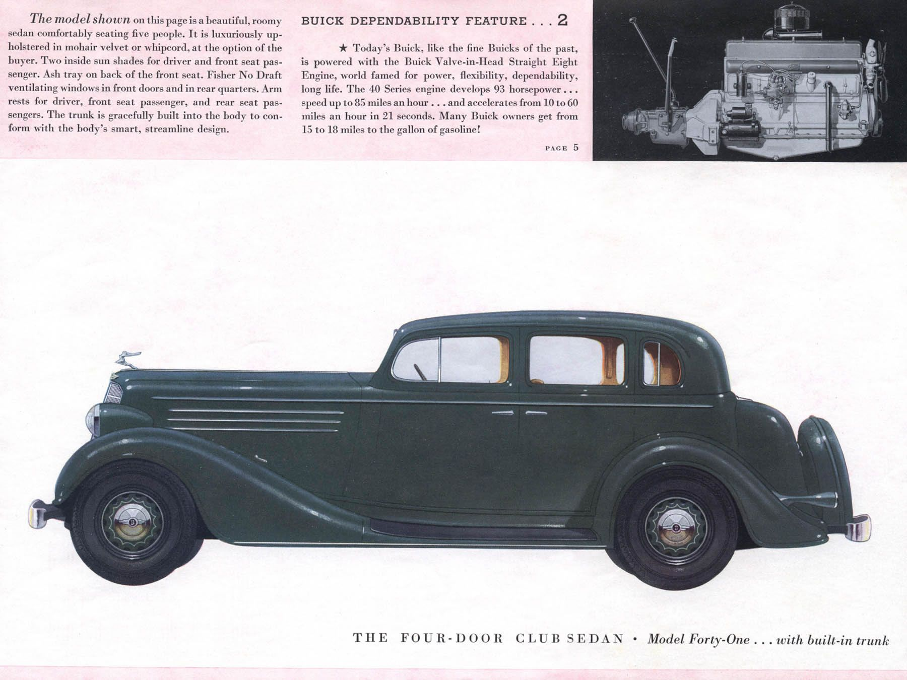1935 buick model forty one four door club sedan