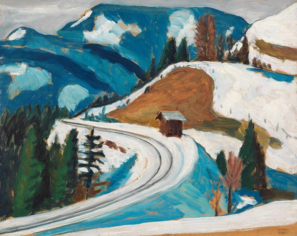 Gabriele Münter (1877-1962) Straßendurchstich im Winter (Naturstudie. Station…