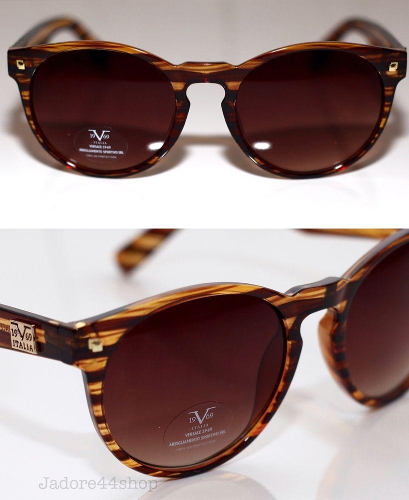 876e03c6350d2 VERSACE 19V69 ITALIA ABBIGLIAMENTO SPORTIVO SRL VU103 Womens Sunglasses New   Versace1969  Round