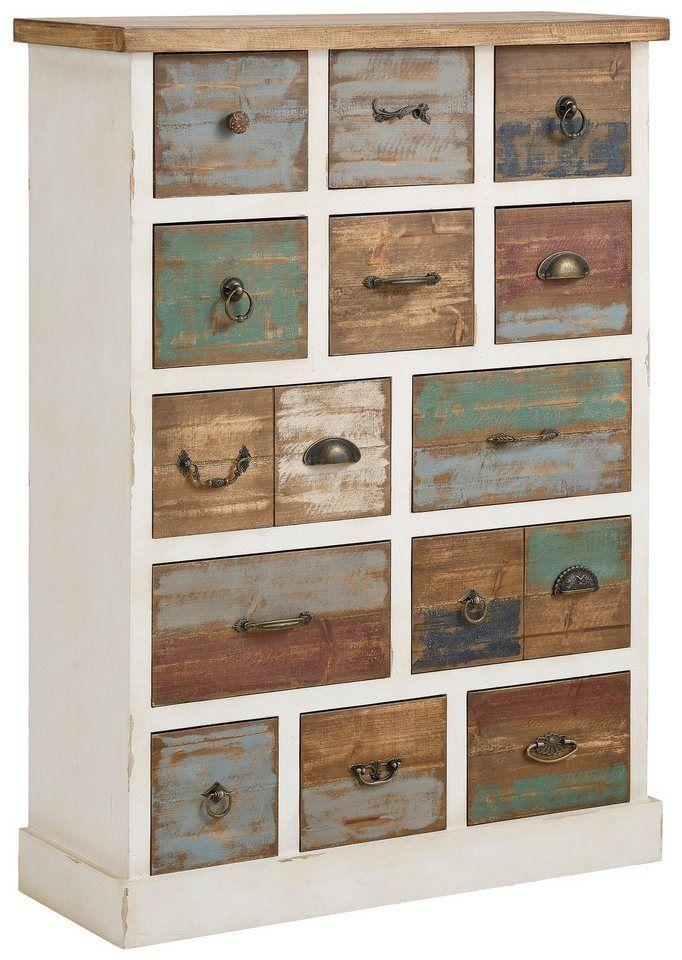 home affaire kommode breite 80 cm mit 13 unterschiedlichen schubladen shopping in germany. Black Bedroom Furniture Sets. Home Design Ideas