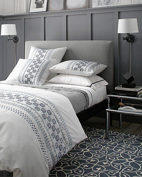 We took the soothing spirit of all-white bedding and added a touch ...