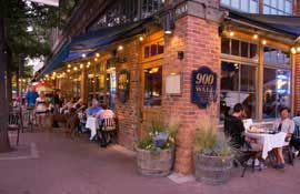 Streetside Dining At 900 Wall Restaurant In Downtown Bend Oregon