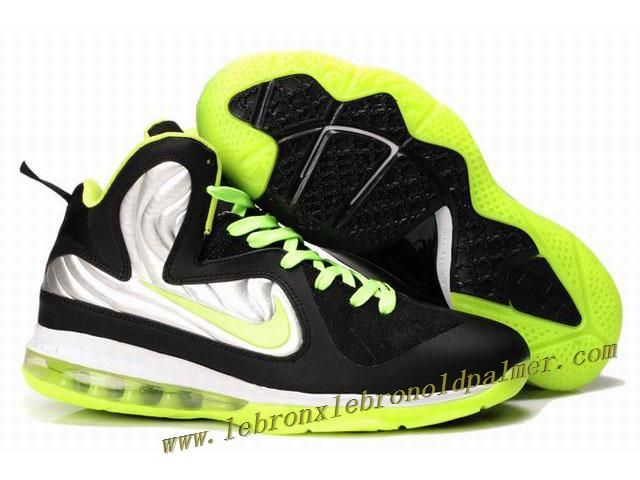new arrival 1517d a8aba New Nike Zoom LeBron 9 Shoes Black Silver Green