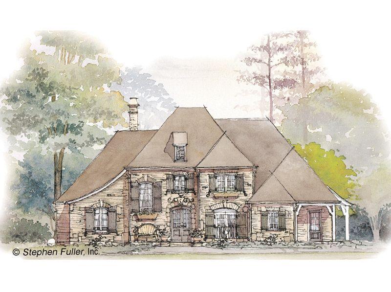 House Plan La Maison De Reves Stephen Fuller Inc French Country House Plans House Plans Tudor Style Homes