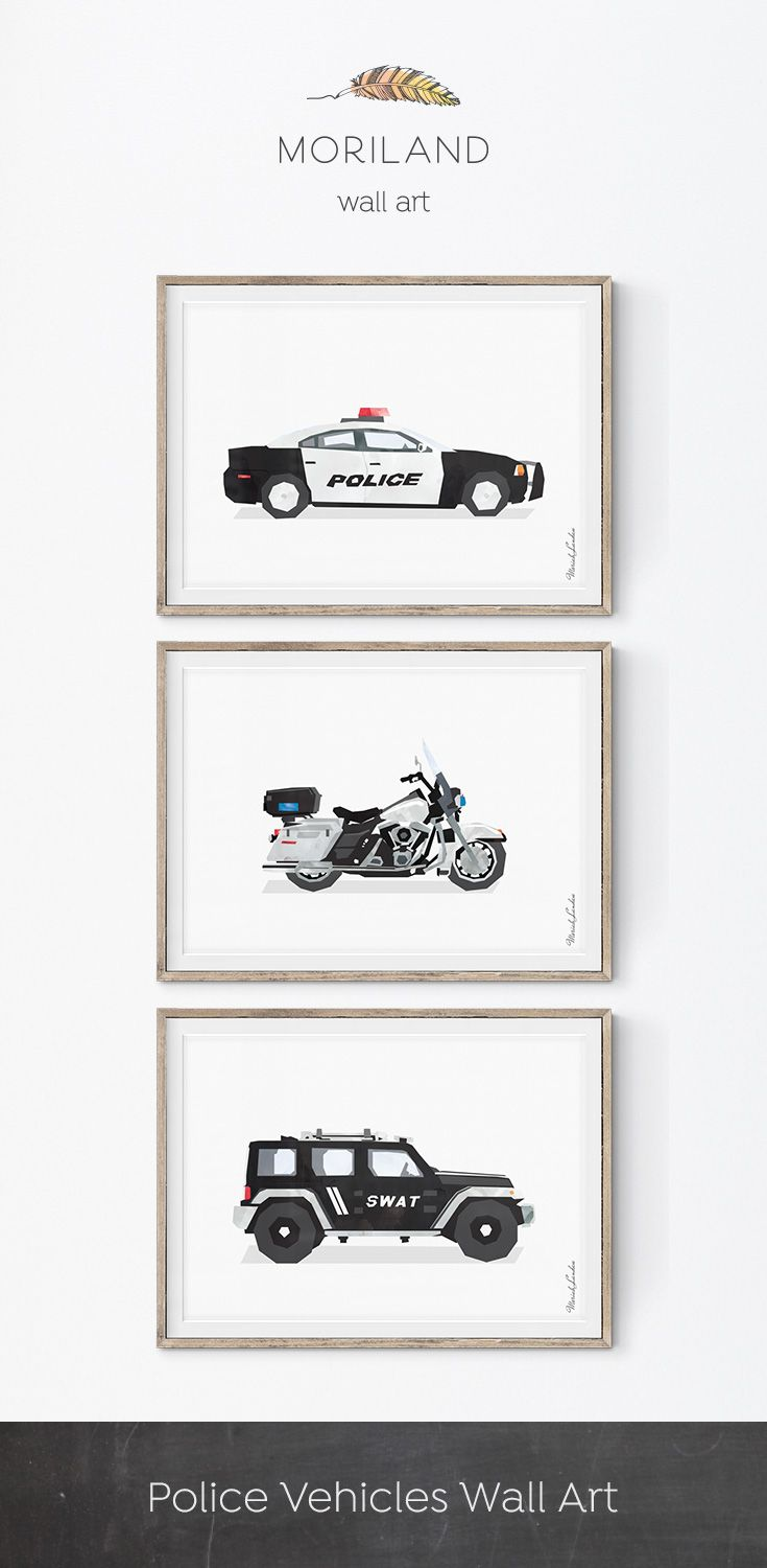 Police Car Wall Art, Police Car Print, Transportation Wall Art, Police Decor,  Boy Print, Car Nursery Decor, Kid Room Decor, Car Wall Decor | John U0026 Jack  ...