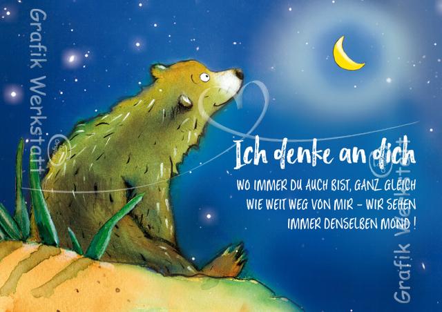 Ich denke an dich - Postkarte - Grafik Werkstatt Bielefeld