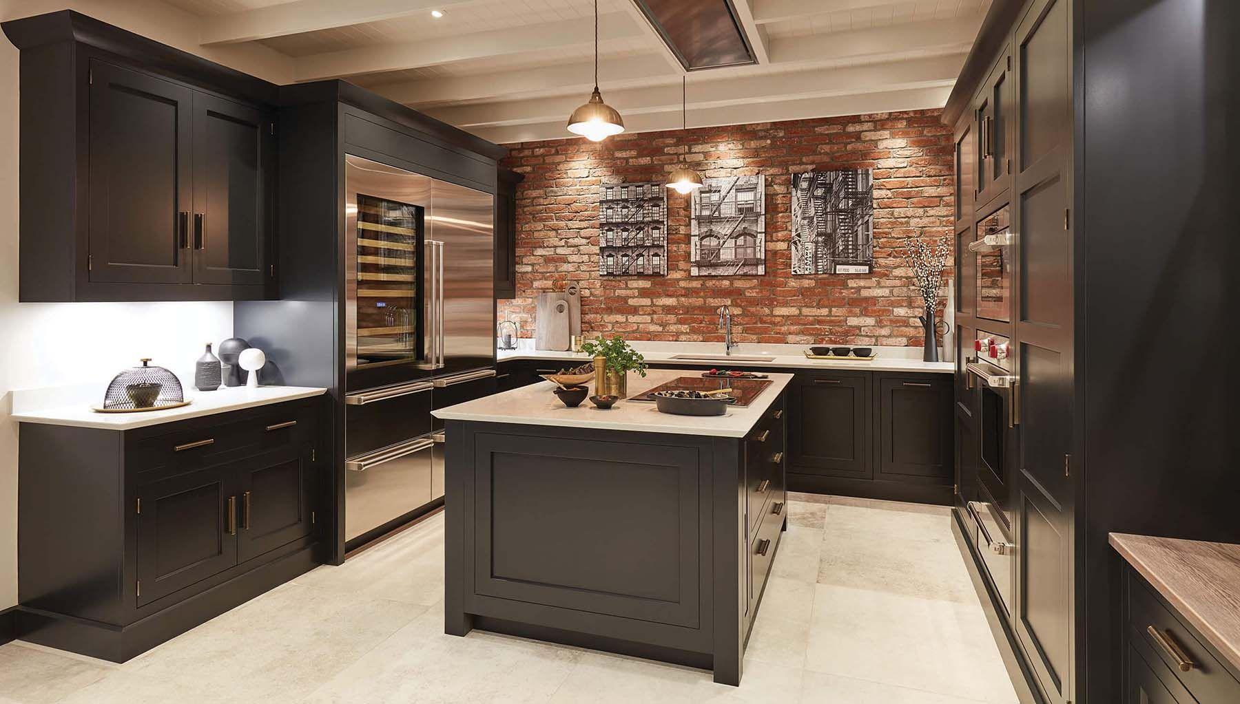 Red Brick In The Kitchen In 2020 Exposed Brick Kitchen Brick