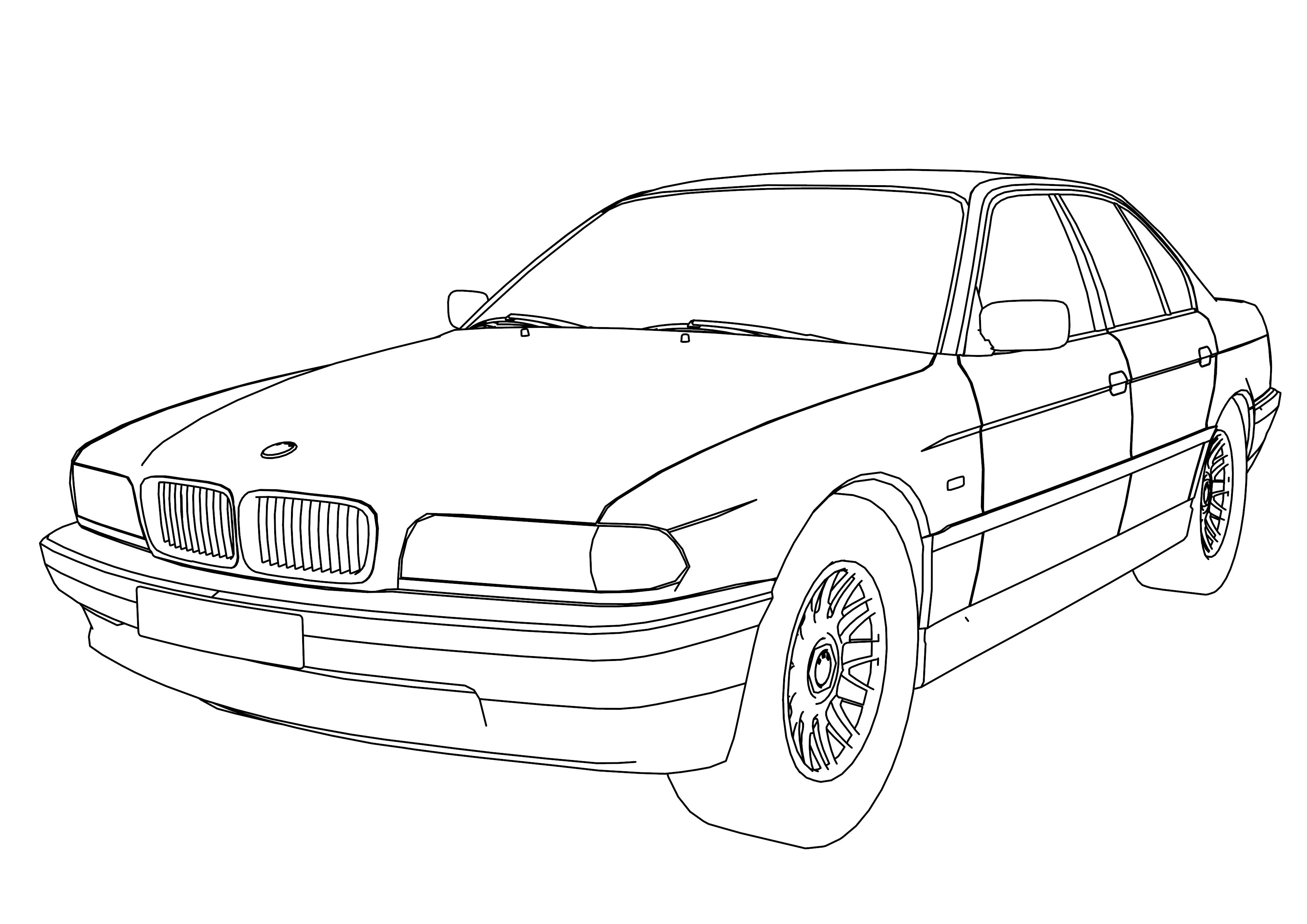 Bmw 750 Model Car Coloring Page Toimintaterapia Pinterest