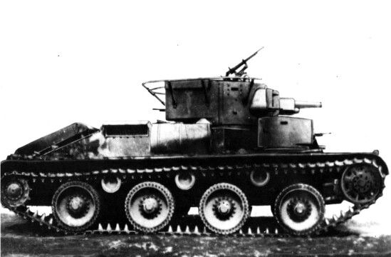 T-29, modification of T-28 with Christie's suspension. One of few prototypes high speed medium tanks with L-10 76,2 gun.