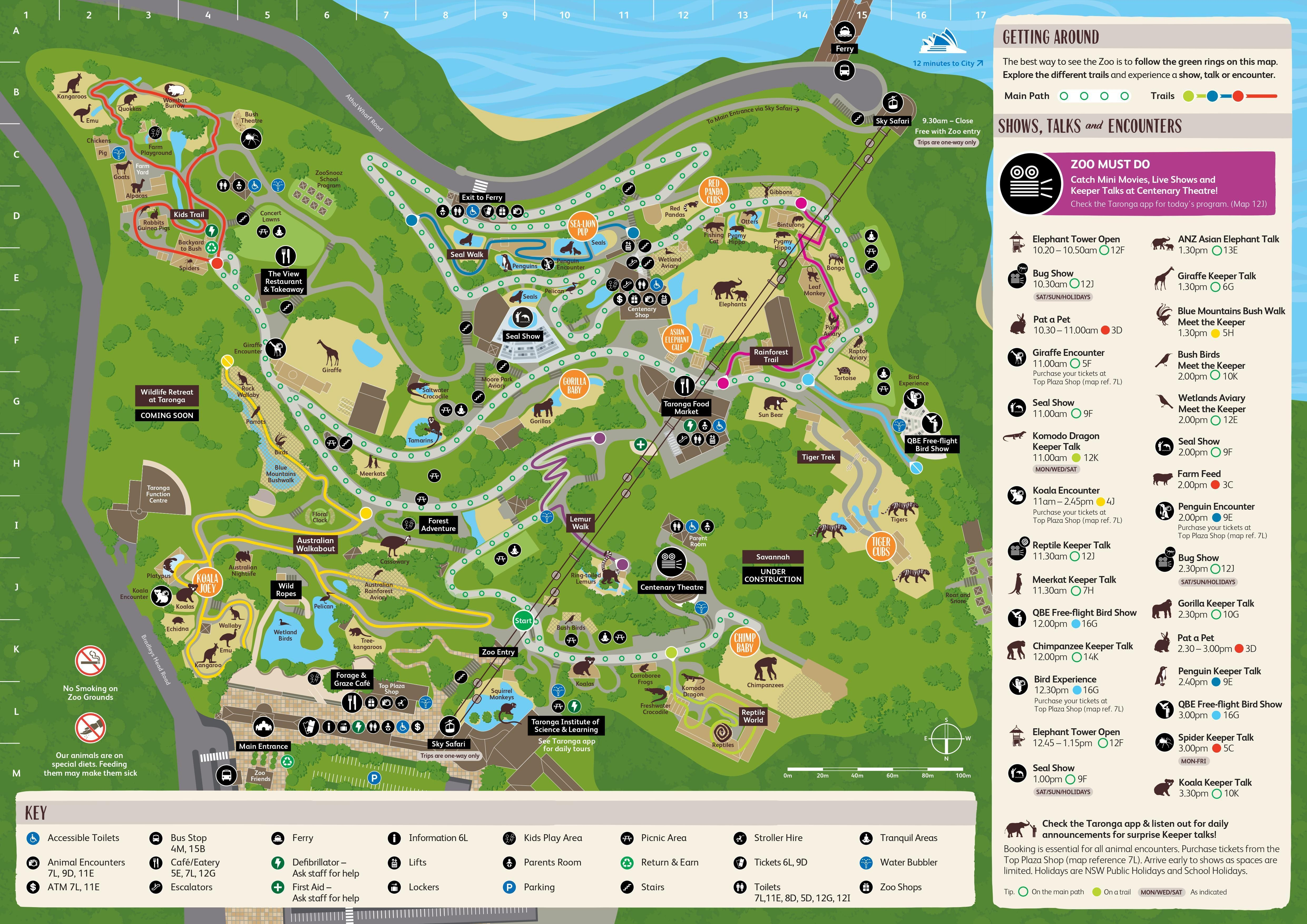 Taronga Zoo Sydney Map Zoo Map Sydney Map Map