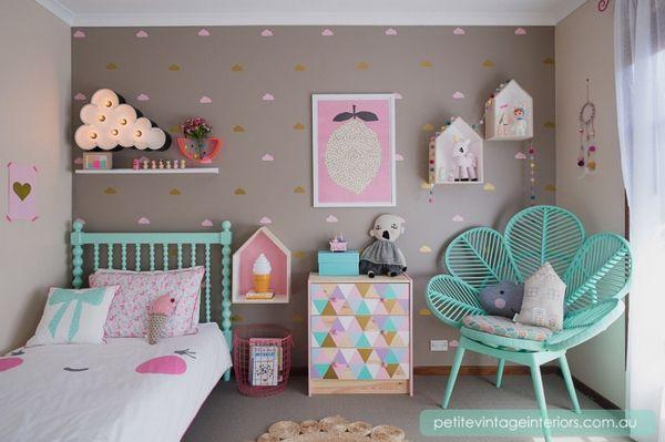 id e d co chambre imprim nuage id es chambres filles. Black Bedroom Furniture Sets. Home Design Ideas