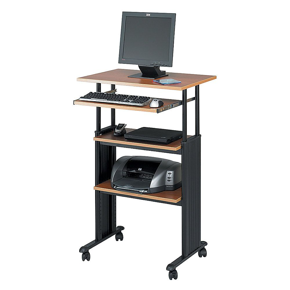 Safco Muv Adjustable Stand Up Workstation 35 49 H X 29 W X 22 D Bla Adjustable Height Desk Height Adjustable Computer Desk Adjustable Height Standing Desk