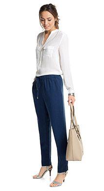 Esprit / tracksuit-style fashion trousers