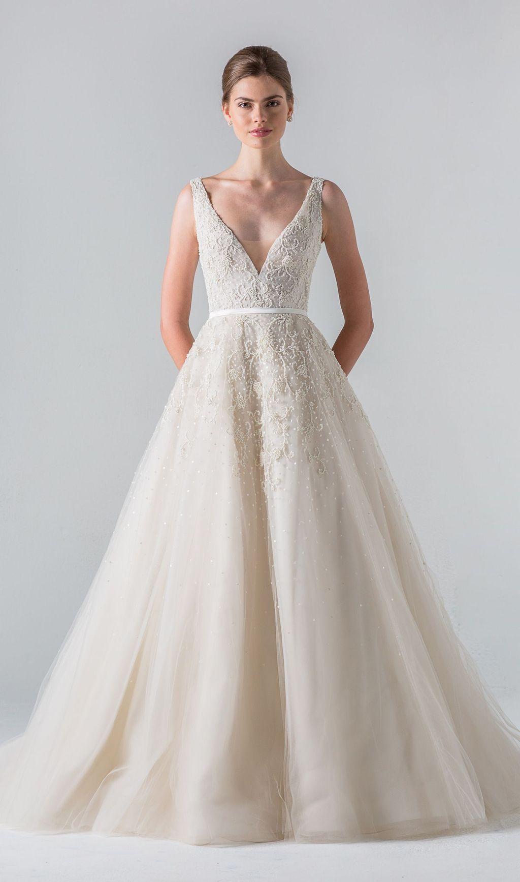 gorgeous v neck tulle wedding dress ideas dress pinterest