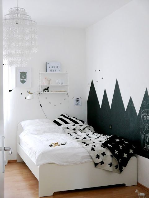 petra hat mit dem tafellack von kolorat h bsche berge an die kinderzimmerwand wandgestaltung. Black Bedroom Furniture Sets. Home Design Ideas