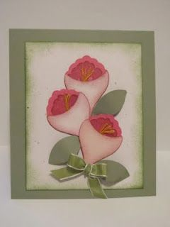 Bitz & Bites Scrapin: Calla Lilly & Tulip Punch Art Flower Card