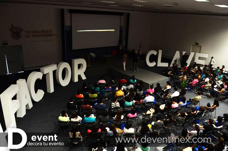 Letras GIGANTES D-Event FACTOR CLAVE. www.deventmex.com