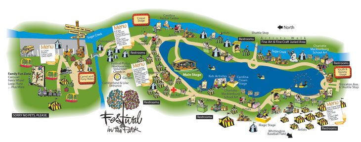 Freedom Park Charlotte Nc Map.Festival In The Park At Freedom Park September 23 25 2016