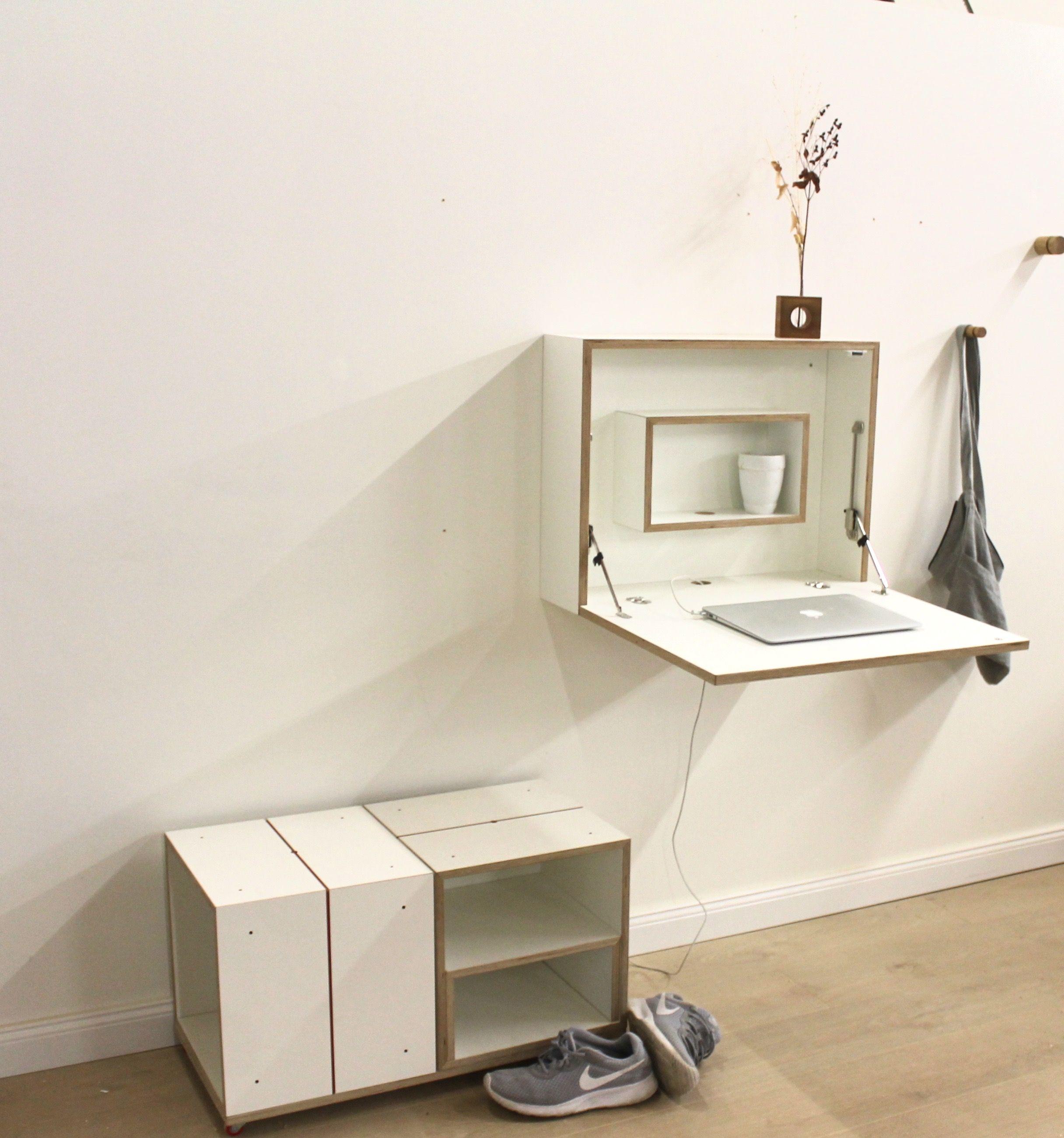 Platzsparender Schreibtisch Ausklappbarer Schreibtisch Platzsparender Schreibtisch Und Schreibtisch
