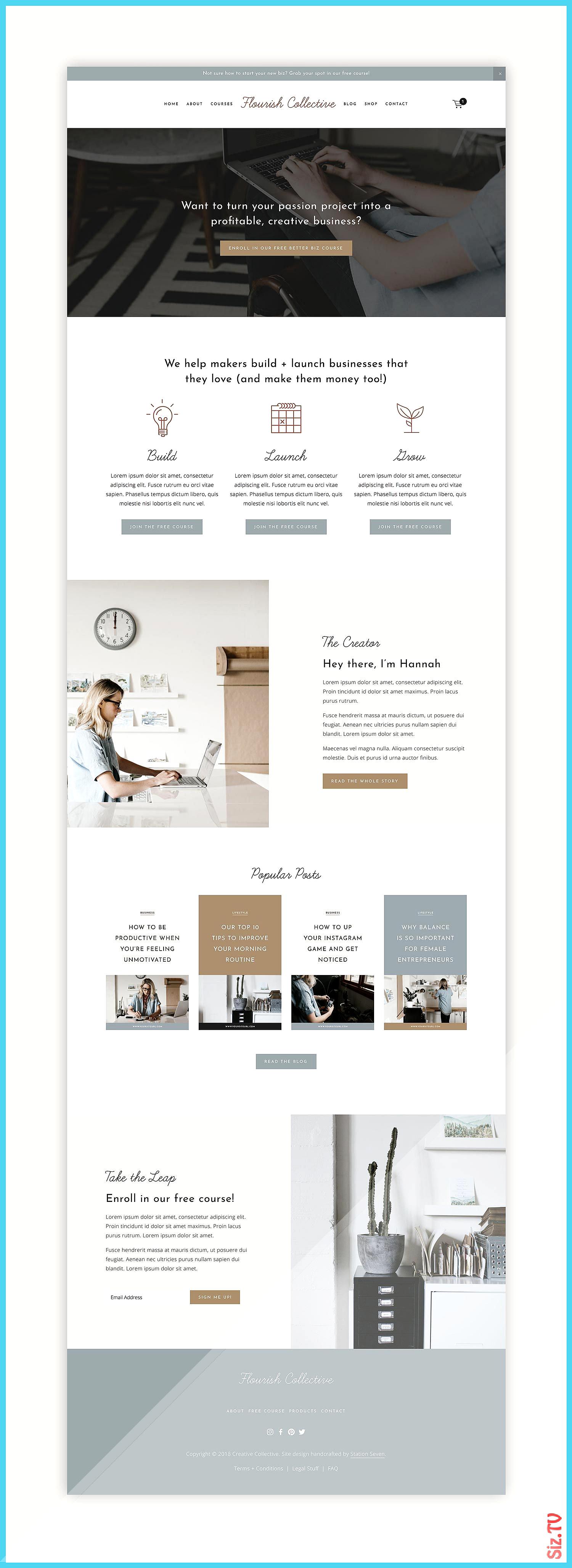 Flourish Squarespace Kit u2014 Station Seven Squarespace Templates WordPress Themes and Free Resourc...
