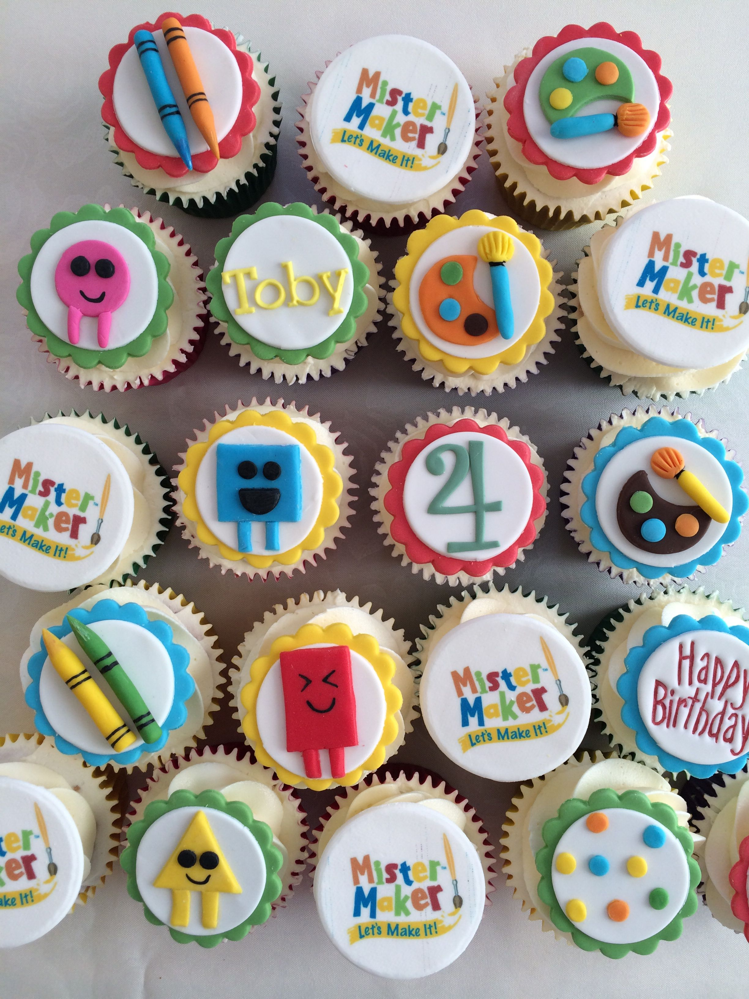 Pleasing Mister Maker Birthday Cupcakes 4Th Birthday Cakes Harry Personalised Birthday Cards Cominlily Jamesorg