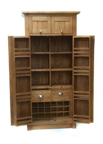 Freestanding Larder Cupboard Ebay Kitchen Larder Units Kitchen Larder Solid Wood Kitchens