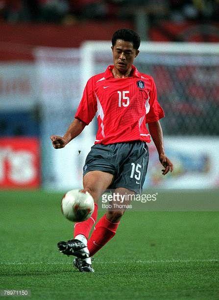 Football 2002 Fifa World Cup Finals Semi Final Seoul South Korea 25th June 2002 Germany 1 V South Korea 0 South Korea S Min Sung Lee Passes T Lee Min Korea Lee