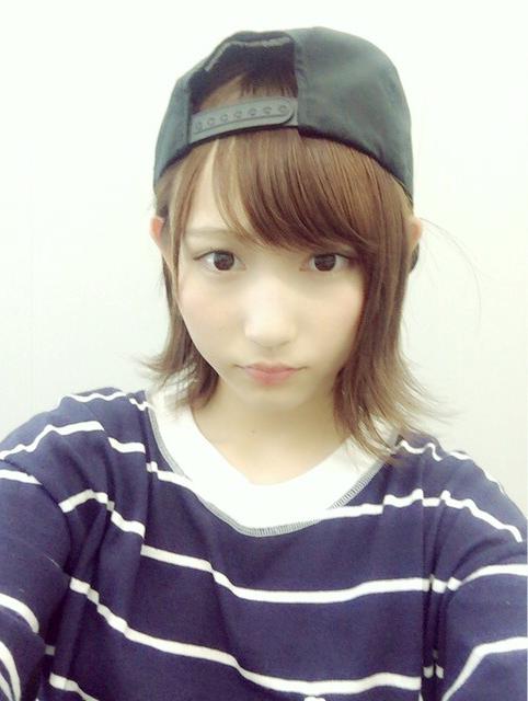 帽子がカワイイ志田愛佳です。