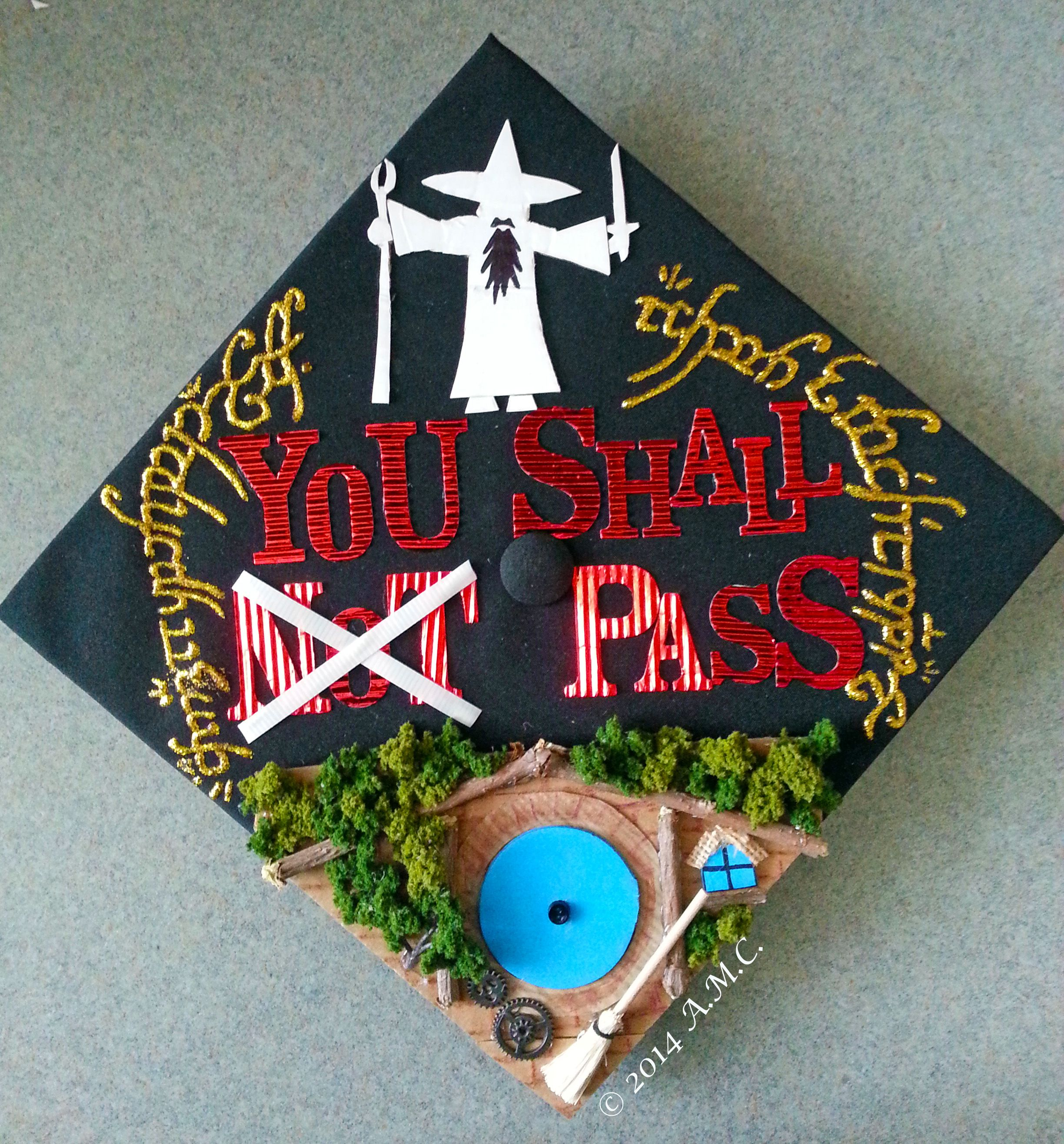 You Shall Not Pass Lord Of The Rings Inspired Graduation Cap