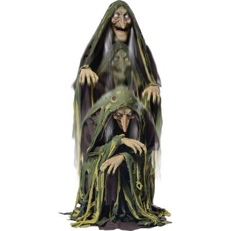 Swamp Hag Rising Animated Halloween Decoration, Multicolor - animated halloween decorations