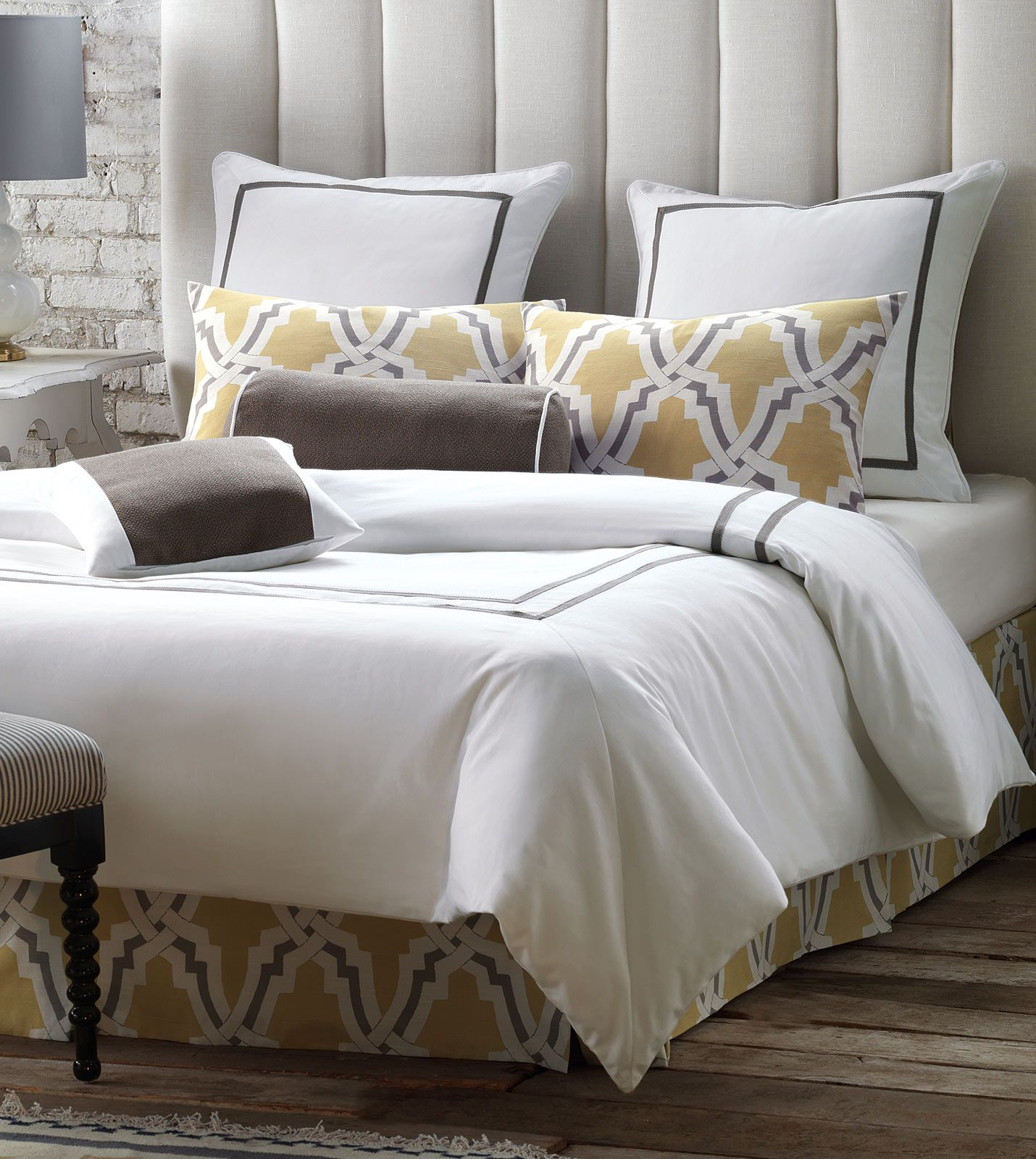 Mustard Grey Gold Yellow Niche Luxury Bedding By