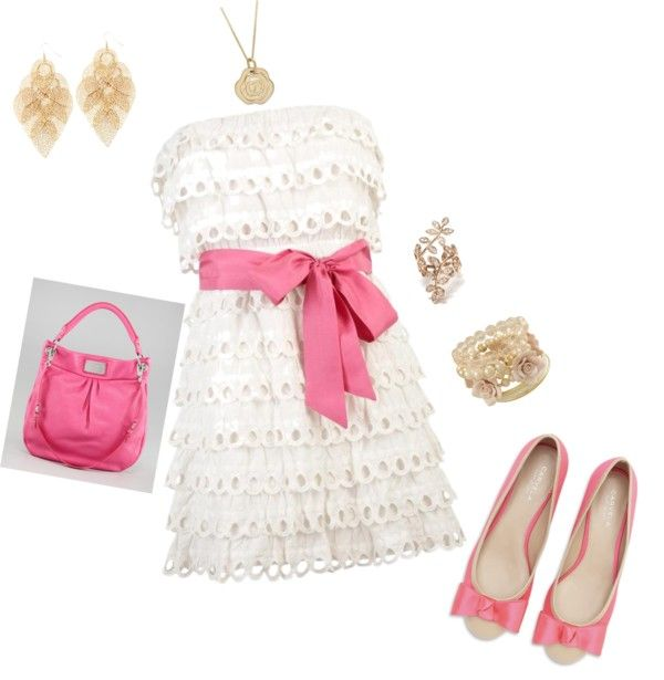 cute lacy summer dress, created by isla614 on Polyvore