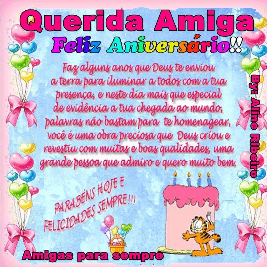 Querida Amiga Feliz Aniversário Felicidades Felizaniversario