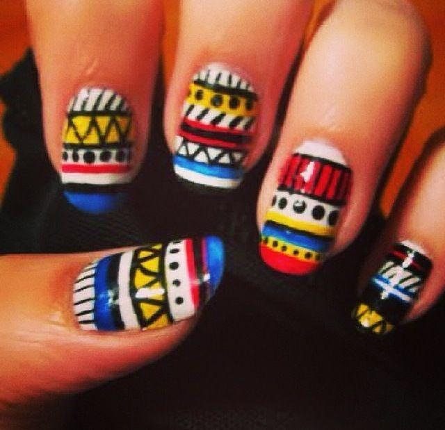 Pin By Rachel Parris On Nails Pinterest Aztec
