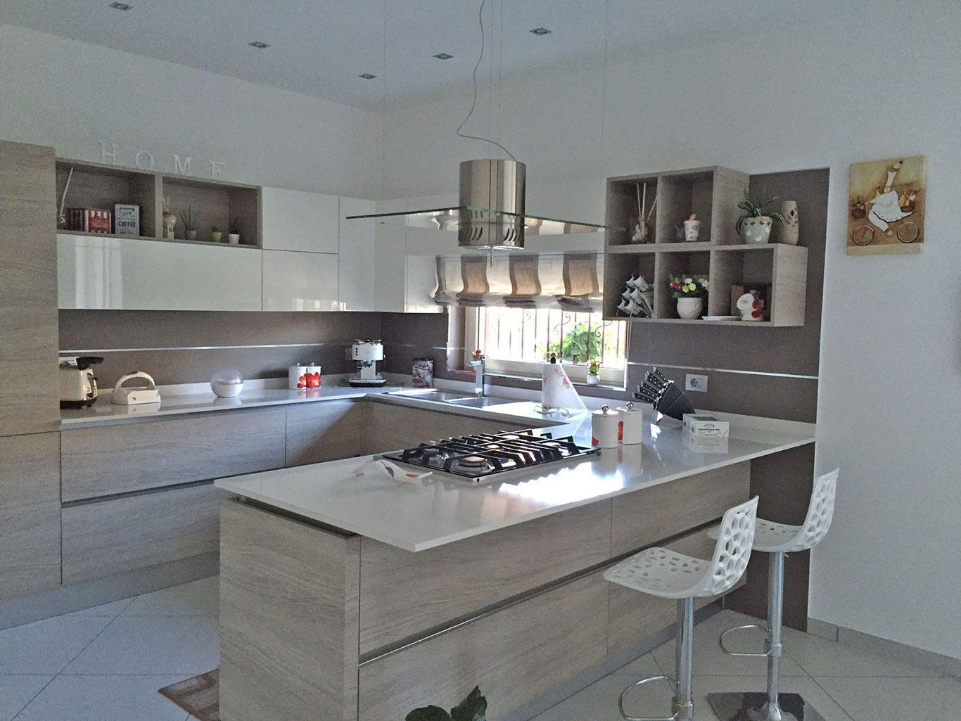 Cucine A U Piccolecucine Piccole Vendita Online : Cucine A Scomparsa  #795F52 1366 1025 Cucine Moderne A U