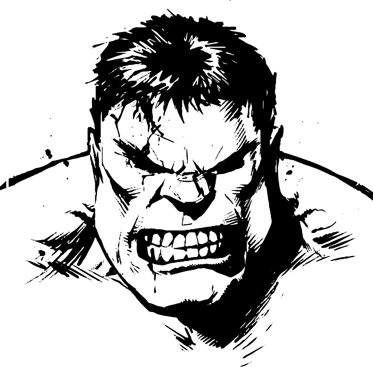 Hulk Face Line Drawing : Hulk vector superhero pinterest