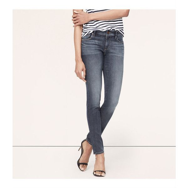 LOFT Tall Curvy Straight Leg Jeans in Dense Blue Wash (110 CAD) ❤ liked on Polyvore featuring jeans, dense blue wash, loft jeans, 5 pocket jeans, white straight leg jeans, tall straight leg jeans and tall jeans