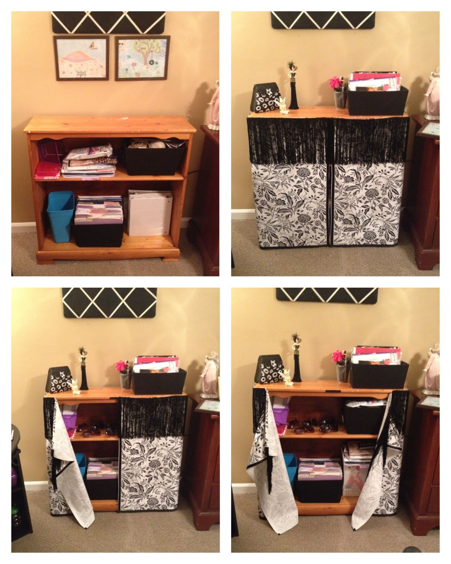 Book Cover Sewing Room : No sew bookcase cover the home sewing rooms