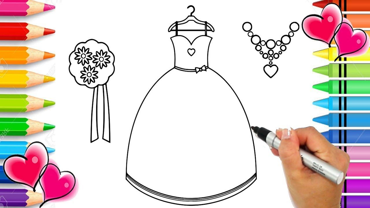 How To Draw Beautiful Outfit Step By Step For Kids Glitter Art How T Glitter Art Printable Coloring Pages Beautiful Outfits