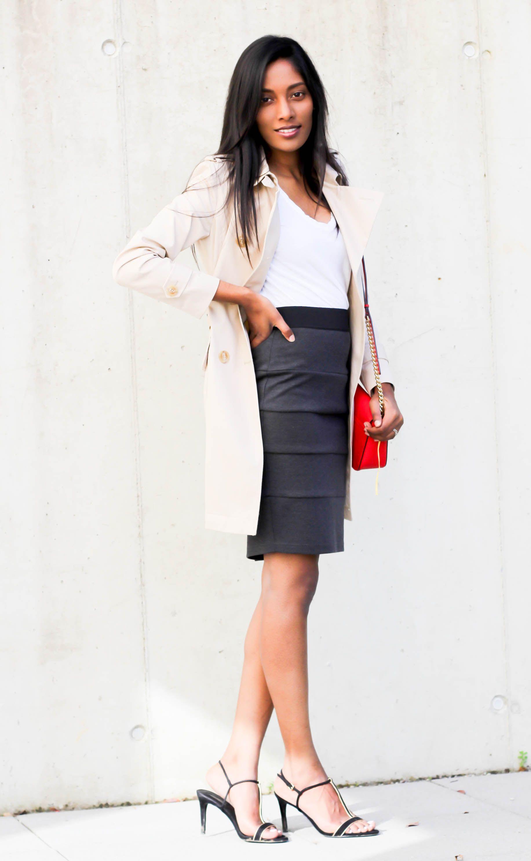 Office wear  Stefanel Trench Coat
