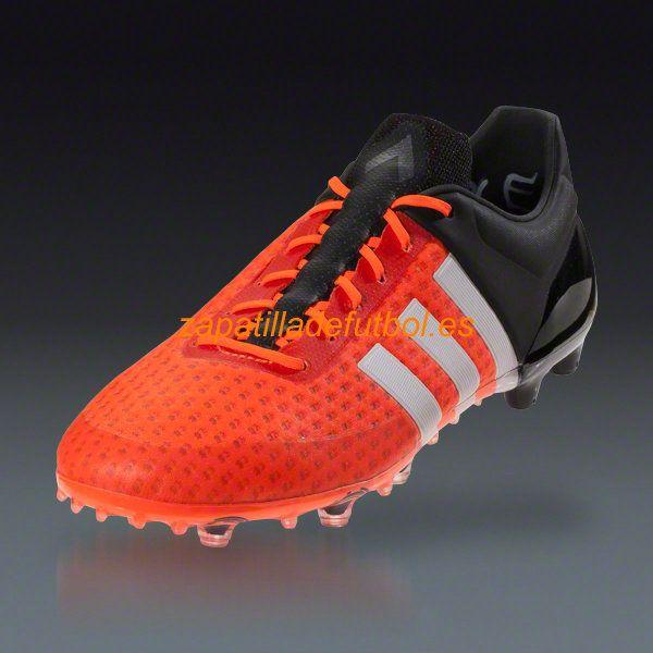 best website aaca4 76742 Venta caliente Zapatos de Soccer Adidas Ace 15.1 Primeknit FG AG Solar  Naranja Blanco Negro