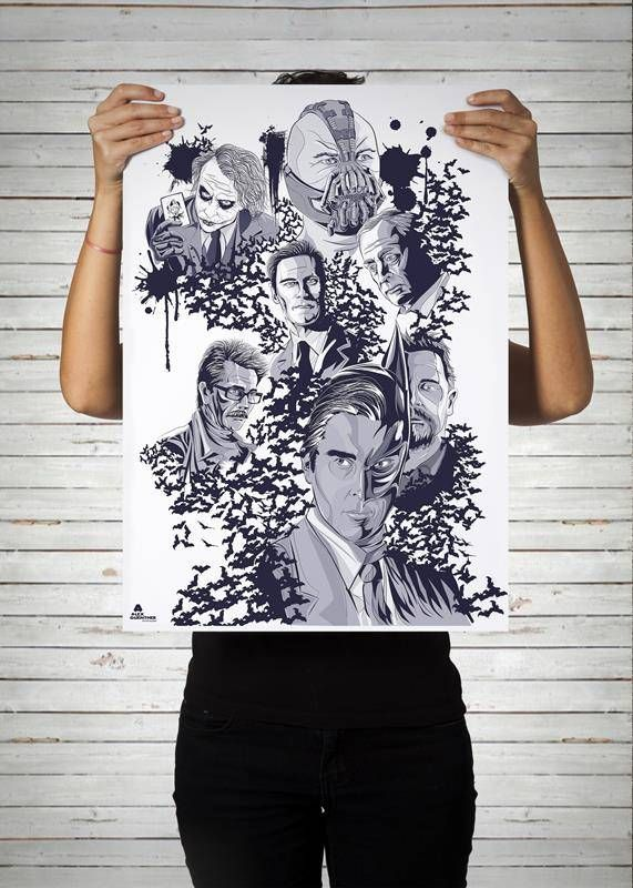 Poster do Batman curinga viloes da marvin / Artista: Alex Guenther