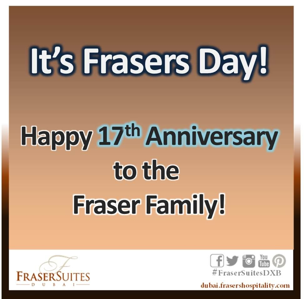 Today Frasers Hospitality Is Celebrating It's 17th