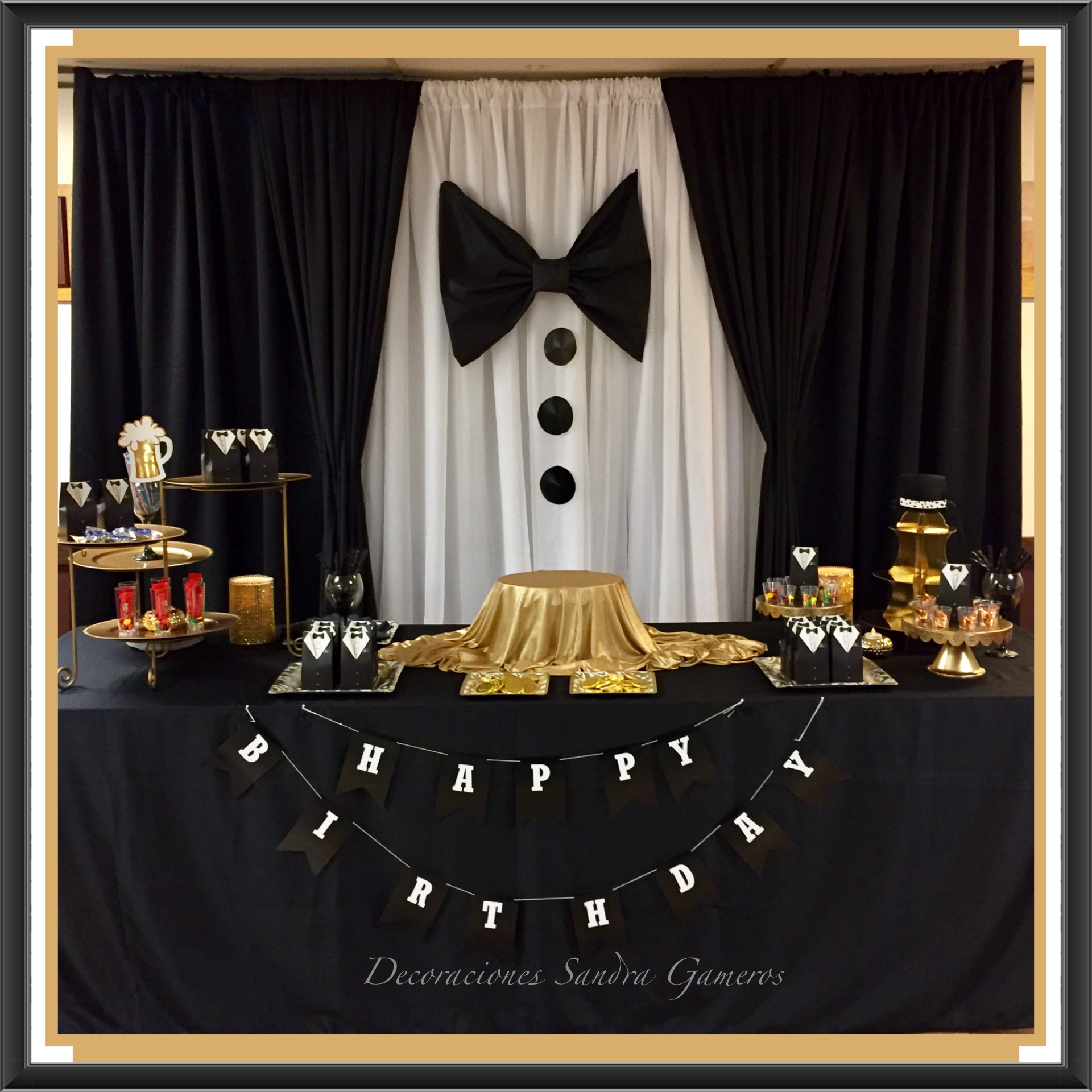 Suit And Tie Backdrop Display New Years Or Men S Party