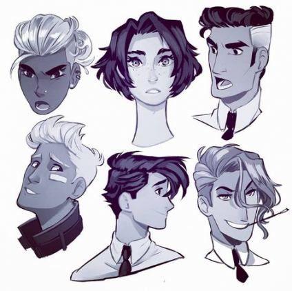 46 ideas drawing faces male hair art -   10 hair Art sketch ideas