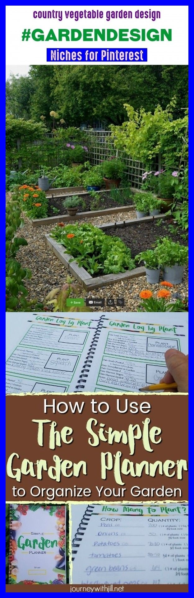 Country vegetable garden design #gardendesign # ...