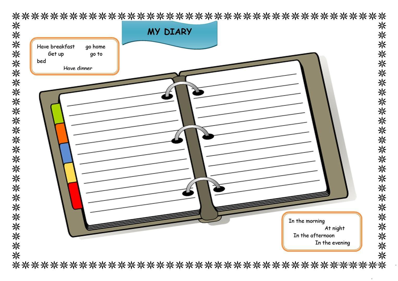 My Diary Worksheet