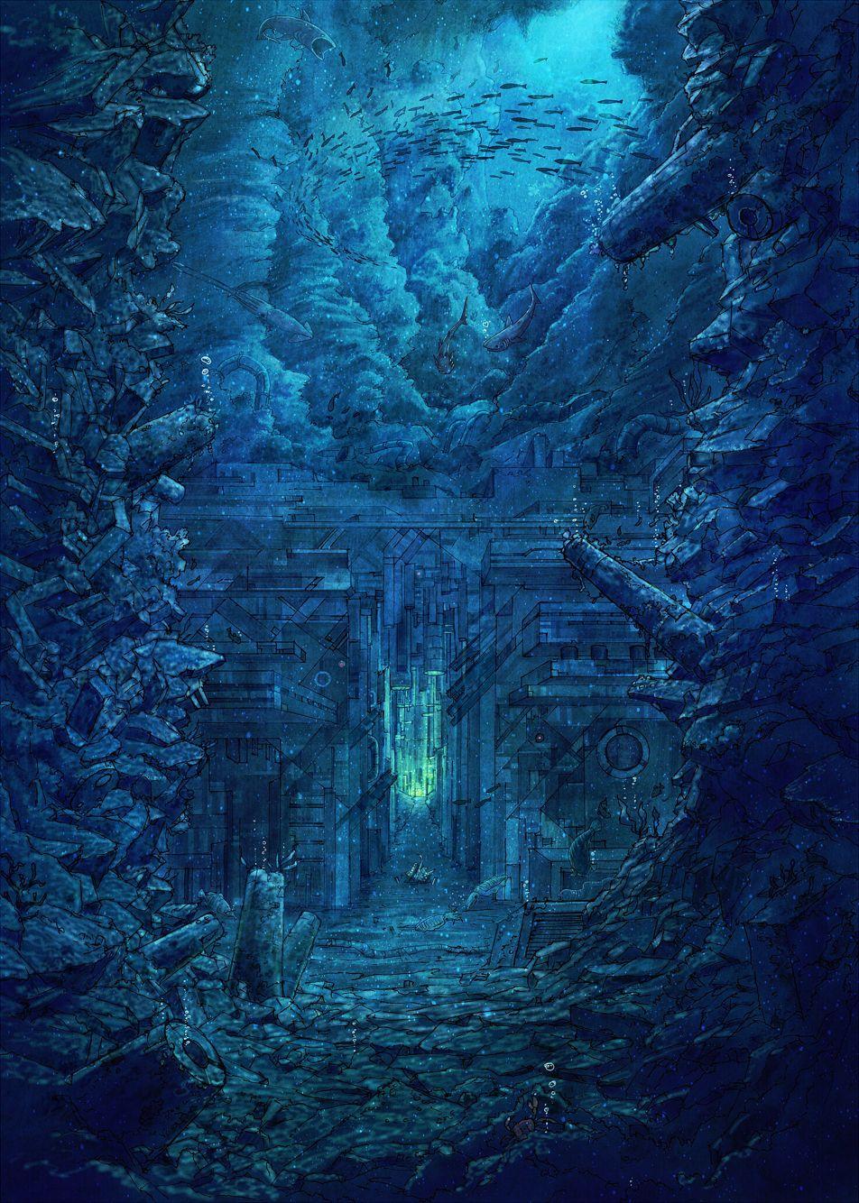 Artist Cola Gotouryouta Art, Fantasy landscape